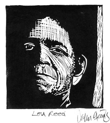 Lou Reed ~ Lino-cut