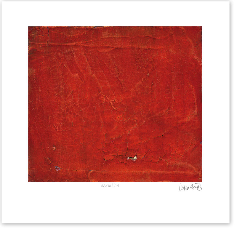 Digitized painting called Vermilion printed on archival stock