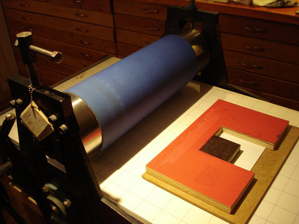 rubber blanket on etching press