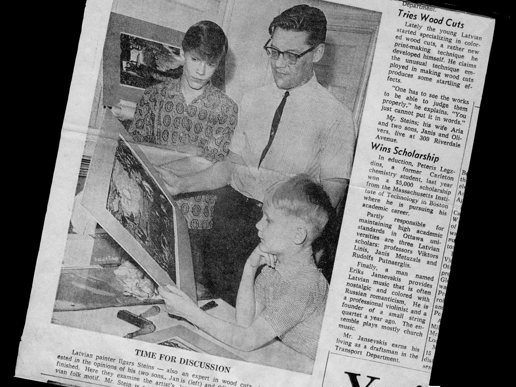 newspaper clipping Ilgvars Steins
